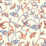 Floral seamless pattern. Flower swirl background. Arabic ornament with fantastic flowers and leaves. Royalty Free Stock Images