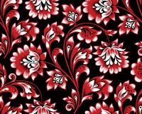 Floral seamless pattern. Flower swirl background. Ornamental brocade retro painting. Floral seamless pattern. Flower ornament. Ornamental flourish background in Royalty Free Stock Images