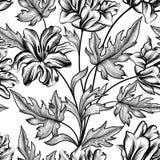 Floral seamless pattern. Flower tulip background. Floral tile ornament Stock Images