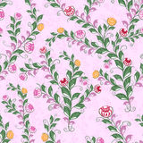 Floral seamless pattern with flowering plants Royalty Free Stock Images