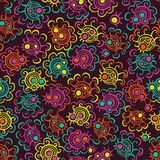 Floral seamless pattern with flowers. Royalty Free Stock Image