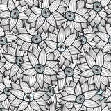 Floral seamless pattern with flowers. Royalty Free Stock Photos