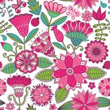 Floral seamless pattern with flowers. Royalty Free Stock Photo