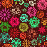 Floral seamless pattern with flowers. Copy square to the side an Royalty Free Stock Photography