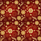 Floral seamless pattern with flowers. Copy square to the side and youll get seamlessly tiling pattern  Stock Photography