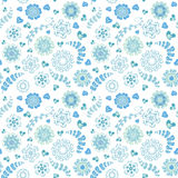 Floral seamless pattern with flowers. Copy square to the side and youll get seamlessly tiling pattern Royalty Free Stock Image