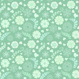 Floral seamless pattern with flowers. Copy square to the side and youll get seamlessly tiling pattern  Royalty Free Stock Photography