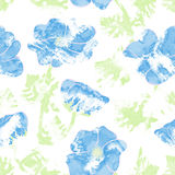 Floral seamless pattern with flowers, romantic print white Royalty Free Stock Photography
