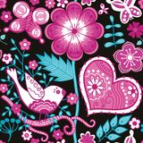 Floral seamless pattern with flowers. Stock Photo
