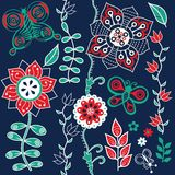 Floral seamless pattern with flowers. Stock Image