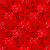 Floral seamless pattern with flowers texture on dotted Royalty Free Stock Photography
