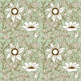 Floral seamless pattern with flowers. Stock Photos