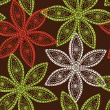 Floral seamless pattern with flowers. Royalty Free Stock Photography