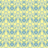 Floral seamless pattern with flowers texture gzhel Royalty Free Stock Photos
