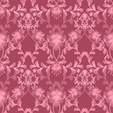 Floral seamless pattern with flowers texture gzhel background Stock Photos