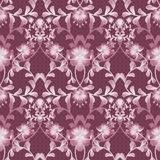Floral seamless pattern with flowers texture gzhel background Royalty Free Stock Photos
