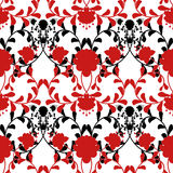 Floral seamless pattern with flowers texture Royalty Free Stock Photos