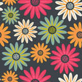Floral seamless pattern with flowers. Vector blooming doodle flo Stock Photos