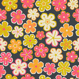 Floral seamless pattern with flowers. Vector blooming doodle flo Stock Photo