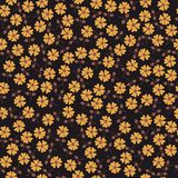 Floral seamless pattern with flowers. Vector blooming doodle floral texture. Decoration with detailed flower Royalty Free Stock Image