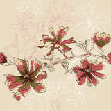 Floral seamless pattern with flowers Stock Photo