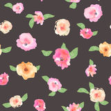 Floral seamless pattern with flowers in watercolor. Design for p Royalty Free Stock Images