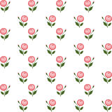 Floral seamless pattern with flowers on white Stock Photos
