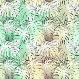 Floral seamless pattern. Foliage background Royalty Free Stock Image
