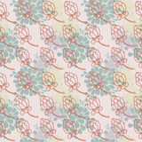 Floral seamless pattern in folkloric style Stock Photography