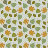 Floral seamless pattern with forest leaves Royalty Free Stock Images