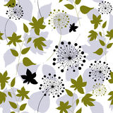 Floral seamless pattern with forest leaves Stock Images