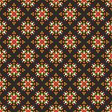 Floral seamless Pattern. Geometric seamless Pattern with cute simple colorful elements . Floral design. Perfect for wallpapers, textile, wrapping papers Stock Illustration