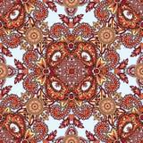 Floral seamless pattern Geometric flower fractal ornament Stock Image