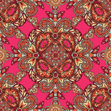 Floral seamless pattern Geometric flower fractal ornament Stock Images