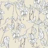 Floral seamless pattern. Floral graphic seamless pattern. Vector illustration Stock Photos