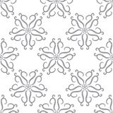 Floral seamless pattern. Gray abstract background Stock Photography