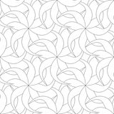 Floral seamless pattern. Gray abstract background Stock Photo