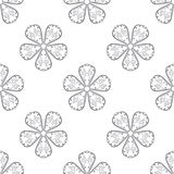 Floral seamless pattern. Gray abstract background Royalty Free Stock Photo