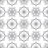 Floral seamless pattern. Gray abstract background Stock Photos