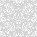 Floral seamless pattern. Gray abstract background Stock Images