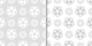 Floral seamless pattern. Gray abstract backgrounds Royalty Free Stock Image