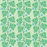 Floral seamless pattern with green decorative leav Stock Photo
