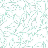 Floral seamless pattern with green leaf. Vector background Stock Image
