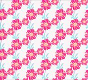Floral seamless pattern. Hand drawn creative flowers. Colorful artistic background with blossom. Abstract herb stock illustration
