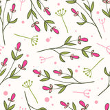 Floral seamless pattern. Seamless pattern of hand -drawn floral elements. Textile print Stock Photo