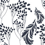 Floral seamless pattern with hand drawn flowers Royalty Free Stock Photo