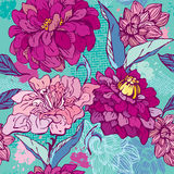 Floral Seamless Pattern with hand drawn flowers -  Royalty Free Stock Image
