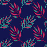 Floral seamless pattern .Hand drawn texture with leaf. Colorful leaves vector Royalty Free Stock Photo