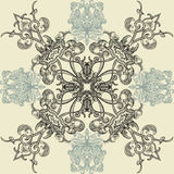 Floral seamless pattern with Islamic Arabic ornament. Royalty Free Stock Image