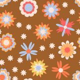 Floral seamless pattern for kids stock illustration